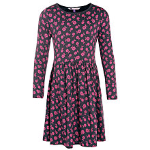 Buy John Lewis Girl Jersey Floral Dress, Grey/Pink Online at johnlewis.com