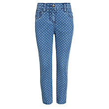 Buy John Lewis Girl Polka Dot Denim Jeans, Blue Online at johnlewis.com