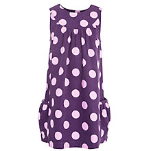 Buy John Lewis Girl Corduroy Spot Pinafore Dress, Aubergine Online at johnlewis.com