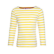 Buy John Lewis Girl Stripe Long Sleeve T-Shirt, Yellow Online at johnlewis.com