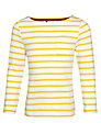 John Lewis Girl Stripe Long Sleeve T-Shirt, Yellow