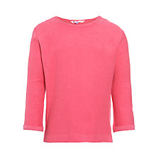 Buy John Lewis Girl Textured Long Sleeve Top, Pink Online at johnlewis.com