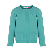 Buy John Lewis Girl Lead In Cardigan, Turquoise Online at johnlewis.com