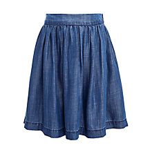 Buy John Lewis Girl Gathered Denim Skirt, Denim Online at johnlewis.com
