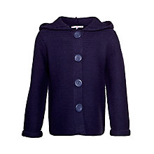 Buy John Lewis Girl Reverse Knit Cardigan, Navy Online at johnlewis.com
