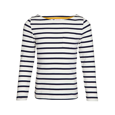 Sale alerts for John Lewis Girl John Lewis Girl Stripe Long Sleeve T-Shirt, Navy/White - Covvet