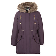 Buy John Lewis Girl Parka Jacket, Purple Online at johnlewis.com
