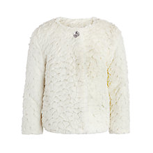 Buy John Lewis Girl Poodle Swing Coat, White Online at johnlewis.com