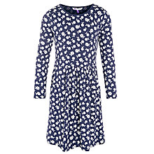 Buy John Lewis Girl Jersey Floral Dress, Navy Online at johnlewis.com