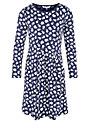 John Lewis Girl Jersey Floral Dress, Navy