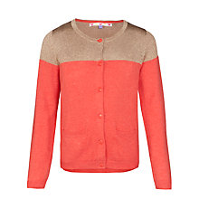 Buy John Lewis Girl Lurex Panel Cardigan, Sunset Online at johnlewis.com