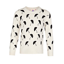 Buy John Lewis Girl Umbrella Print Jumper, Oatmeal Online at johnlewis.com