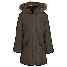 Buy John Lewis Girl Parka Jacket, Khaki Online at johnlewis.com