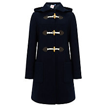 Buy John Lewis Girl Hooded Duffle Coat, Navy Online at johnlewis.com