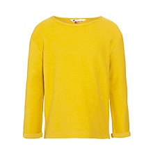 Buy John Lewis Girl Textured Long Sleeve Top, Yellow Online at johnlewis.com