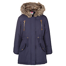 Buy John Lewis Girl Parka Jacket, Navy Online at johnlewis.com
