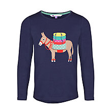 Buy John Lewis Girl Donkey Applique T-Shirt, Blue Online at johnlewis.com