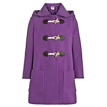 Buy John Lewis Girl Hooded Duffle Coat, Purple Online at johnlewis.com