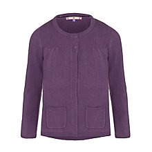 Buy John Lewis Girl Lead In Cardigan, Aubergine Online at johnlewis.com