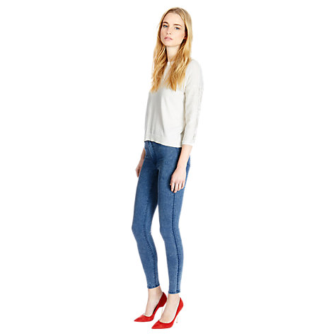 Buy Warehouse High Waisted Jeans, Indigo Denim Online at johnlewis.com