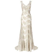 Buy Phase Eight Antique Camellia Wedding Dress, Ivory/Silver Online at johnlewis.com