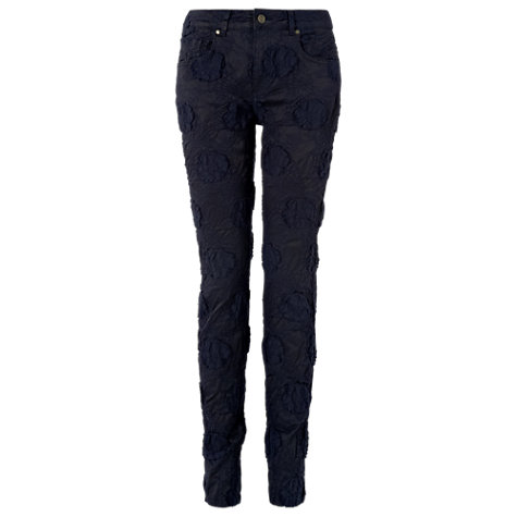 Buy Phase Eight Lexi Jacquard Jeans, Navy Online at johnlewis.com