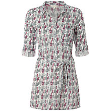 Buy White Stuff Garden Tools Tunic Top, Oyster Online at johnlewis.com