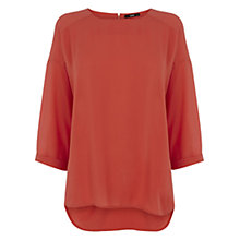 Buy Oasis Drop Sleeve Top, Mid Orange Online at johnlewis.com