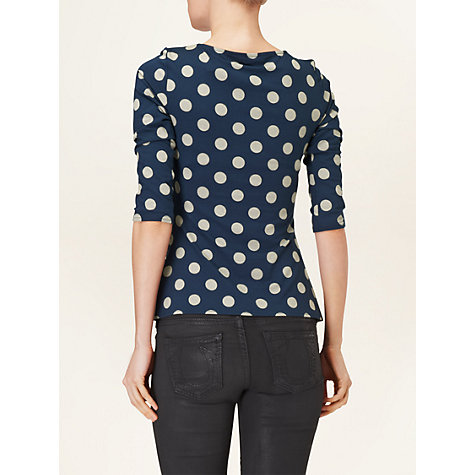 Buy Phase Eight Philly Spot Top, Grey/Navy Online at johnlewis.com