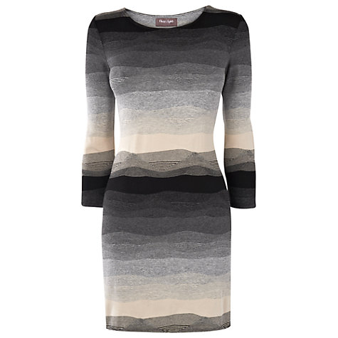 Buy Phase Eight Textured Stripe Tunic Top, Grey/Black Online at johnlewis.com