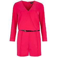 Buy Ted Baker Ariyell V-Neck Playsuit, Deep Pink Online at johnlewis.com