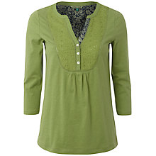 Buy White Stuff Plain Bib Shirt, Avocado Online at johnlewis.com