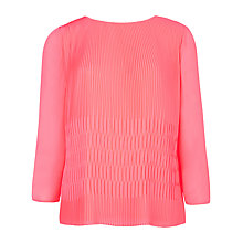 Buy Ted Baker Gyda Pleated Top, Bright Pink Online at johnlewis.com