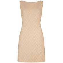 Buy Ted Baker Lelli Textured Shift Dress, Cream Online at johnlewis.com