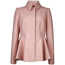 Buy Ted Baker Sollel Peplum Detail Coat, Nude Pink Online at johnlewis.com