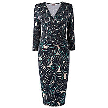 Buy Phase Eight Leaf Print Wrap Dress, Blue/Green Online at johnlewis.com