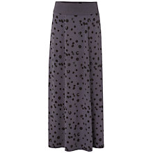 Buy White Stuff Dot Spot Jersey Maxi Skirt, Storm Grey Online at johnlewis.com