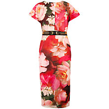Buy Ted Baker Cocoe Rose Dress, Bright Pink Online at johnlewis.com