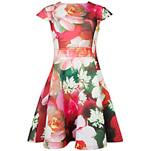 Buy Ted Baker Roziey Rose On Canvas Printed Dress, Cream Online at johnlewis.com
