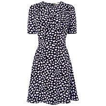 Buy Boutique by Jaeger Leopard Silk Dress, Black Online at johnlewis.com