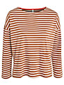 People Tree Libby Stripe Breton Top, Brown