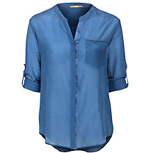 Buy BOSS Orange Efelize Shirt, Blue Chambray Online at johnlewis.com