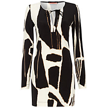 Buy Oui Giraffe Print Tunic Top, Black/White Online at johnlewis.com