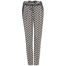 Buy Oui Contrast Print Trousers, Black Online at johnlewis.com