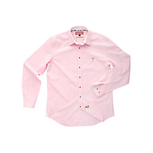 Buy Thomas Pink Phillip Plain Long Sleeve Shirt, Pink Online at johnlewis.com
