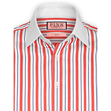Buy Thomas Pink Linford Stripe Long Sleeve Shirt, Red/White Online at johnlewis.com