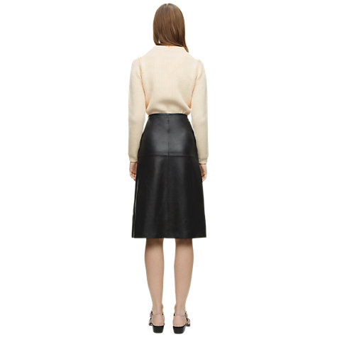 Buy Whistles Lauren A-Line Skirt, Black Online at johnlewis.com