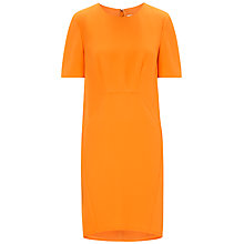 Buy Whistles Meghan Crepe Dress, Orange Online at johnlewis.com