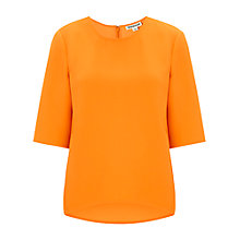 Buy Whistles Seam Detail Top, Orange Online at johnlewis.com