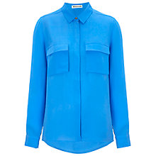 Buy Whistles Lizzy Silk Shirt, Blue Online at johnlewis.com